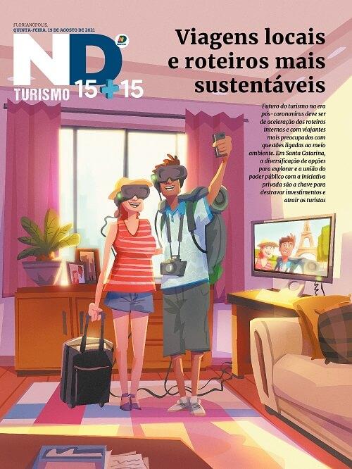 Capa do caderno especial - Viagens locais e roteiros mais sustentáveis
