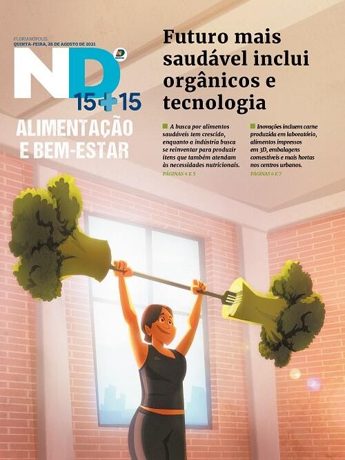 Capa do caderno especial - Futuro mais saudável inclui orgânicos e tecnologia