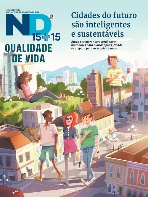 Capa do caderno especial - Cidades do futuro são inteligentes e sustentáveis