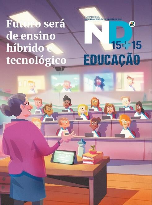Capa do caderno especial - Futuro será de ensino híbrido e tecnológico